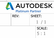 Autodesk Inventor Scale in title block