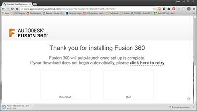 Fusion 360 Download page
