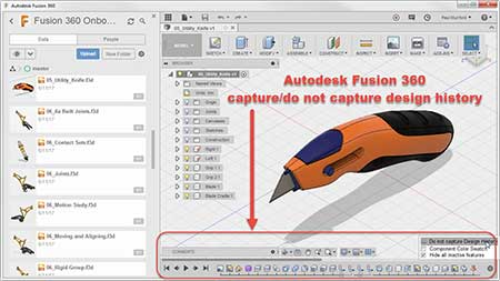 Fusion 360 do do not capture design History