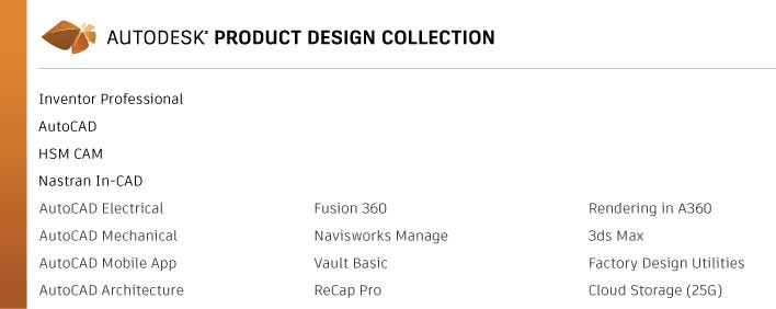 Product Design Collection 2018 hsm nastran inventor autocad