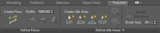 populating 3ds max render visualisation character toolkit animation