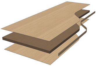 Woodwork for Inventor adds facing edge banding material for you