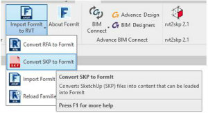 How To Insert SketchUp Into Revit Using FormIt 3