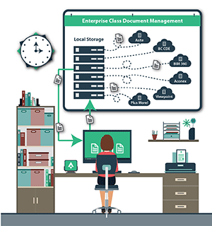 DDocument Management Office Illustration