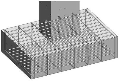 Reinforcing A Concrete Footing In Revit Using Graitec BIM Designers 7