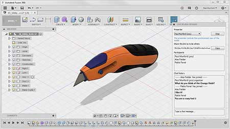 Autodesk Fusion 360 Live Review session in progress