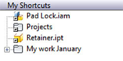 Quickly Create Vault Inventor File and Folder Shortcuts