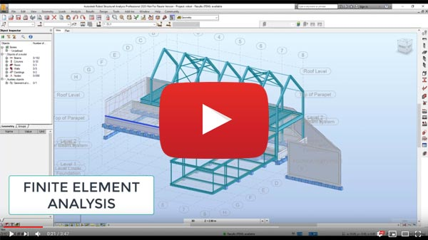 Robot Structural analysis overview video