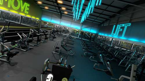gymworks precor flythrough design visualisation interiors