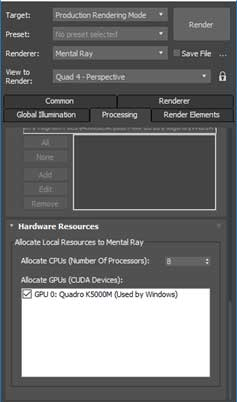 hardware acceleration nvidia card mental ray 3ds max