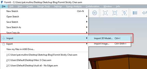 sketchup formit to revit workflow setee import model