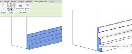 wrapping revit wall sweeps cornice