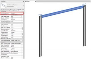 How to Change the Reference Level of a Beam in Revit