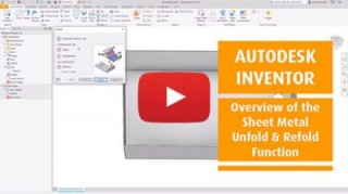 An Overview of the Sheet Metal Unfold & Refold Function in Autodesk Inventor