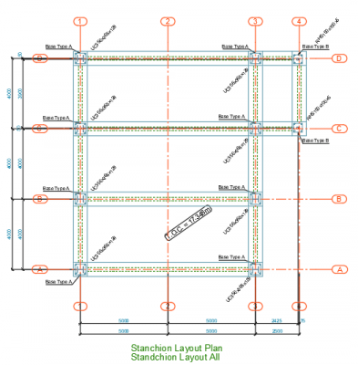 Stanchion-Layout-Plan