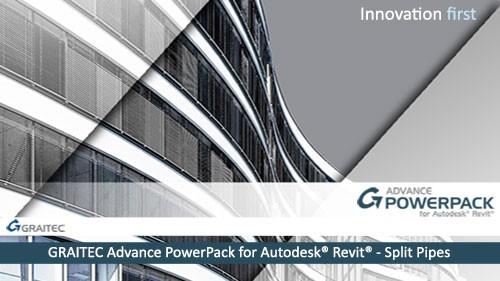 GRAITEC Advance PowerPack for Revit - Split Pipes