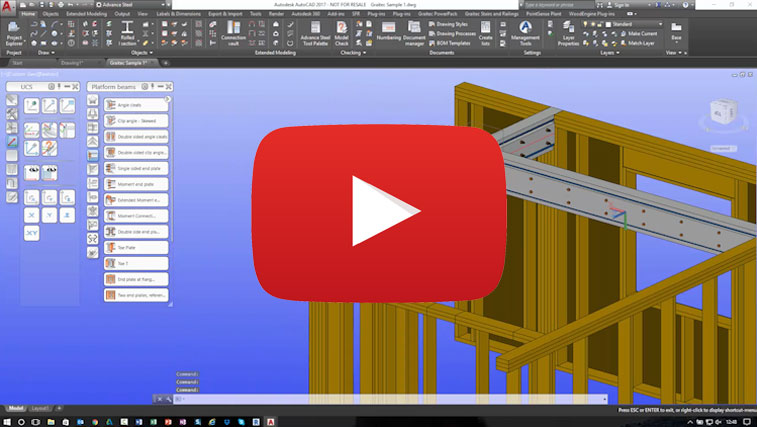 autodesk advance steel timber frame beam packers
