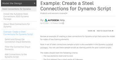 Creating Connections for Dynamo Script