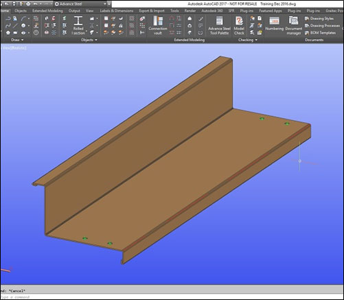 Creating a User Defined Stair Tread in Advance Steel