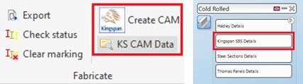 Kingspan SBS Mezzanine Floor Beam Systems erzeugen CAM & CAM Daten