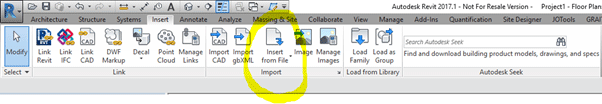 Sharing schedules between projects in Autodesk Revit Insert from File