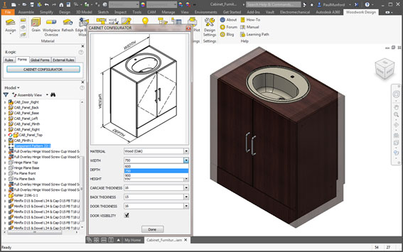 Furniture software for inventor cover