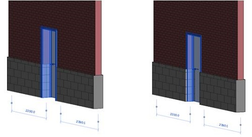 revit reposition door 3