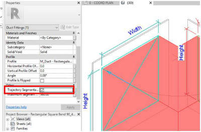 revit square duct elbows 3
